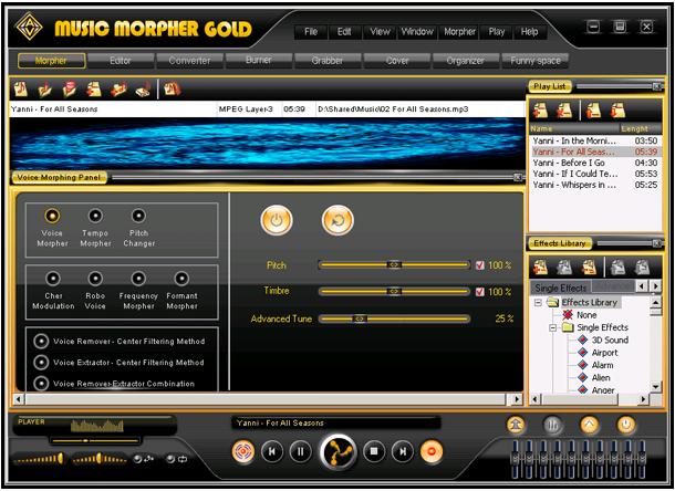 AV Music Morpher GOLD - 音频编辑软件[Windows][$99.95→0]丨反斗限免